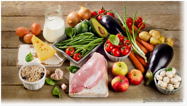 Низкокалорийные продукты при похудении